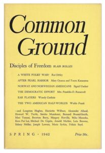 Cover of 1942 issue of Common Ground